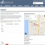 Contact page and Google map