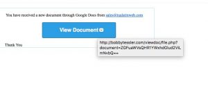 Google Phishing link