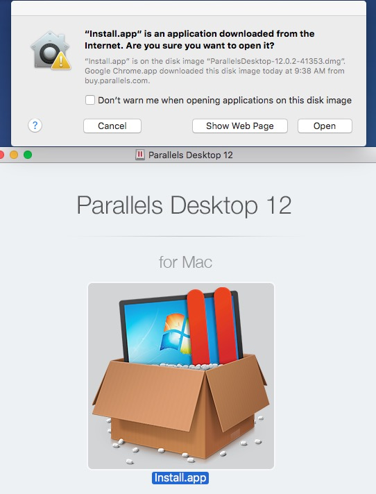 Install Parallels 12