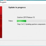 Quicken update in progress