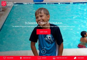 Salvation Army home page