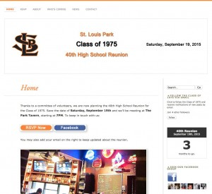 St. Louis Park - reunion web site