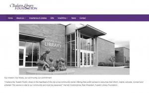 Tualatin Library Foundation, home page